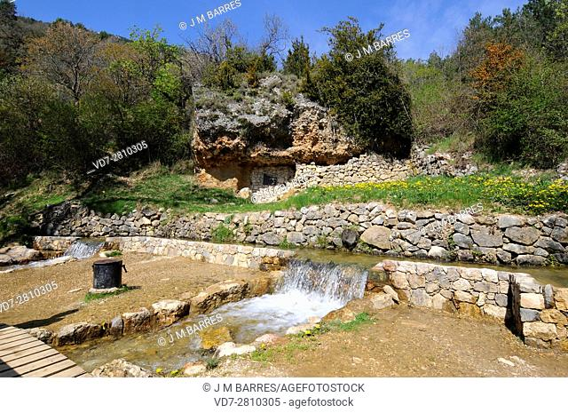 Cardener river, headwaters or source in Coma y Pedra, Barcelona, Catalonia, Spain. Cardener river is Llobregat river tributary