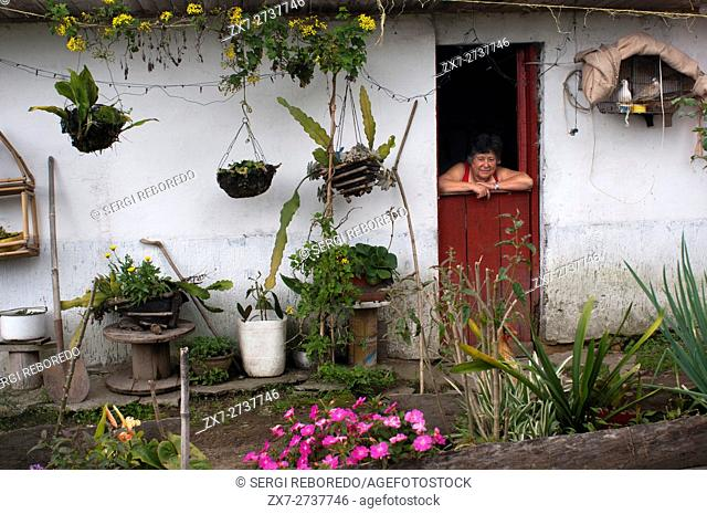 Rural aera and local houses and of Filandia, Colombia. Finlandia, is a municipality of the Coffee Triangle. Colombian coffee growing axis