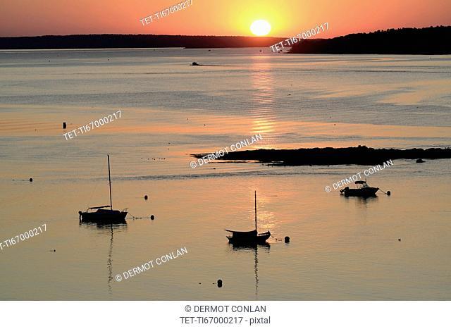 Sunrise over Casco Bay
