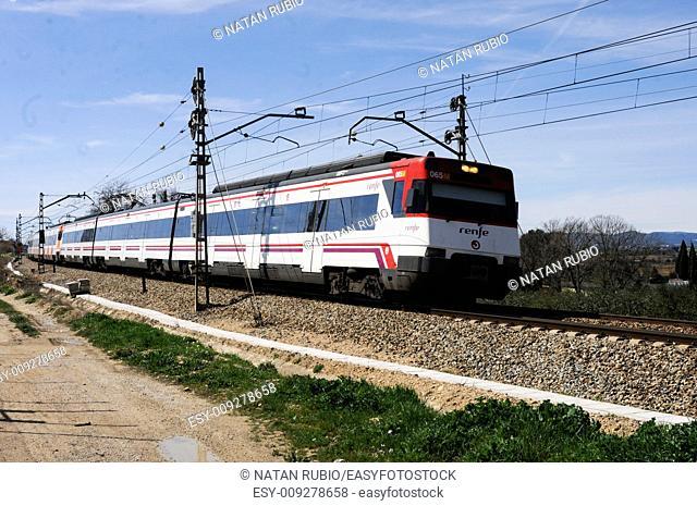 Train, Subirats, Barcelona, Spain