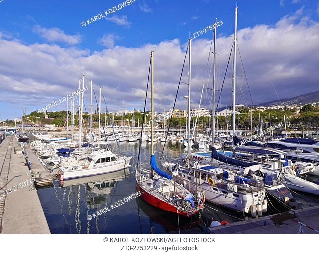 Portugal, Madeira, Funchal, View of the Marina do Funchal