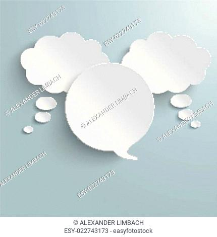 2 White Thought 1 Speech Bubble PiAd
