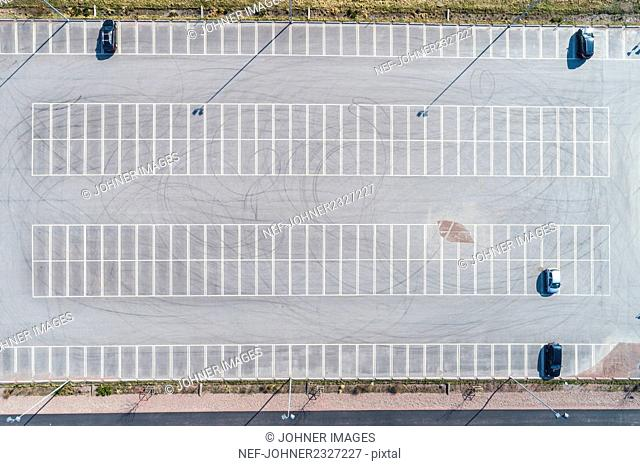 Parking, aerial view