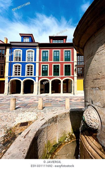 Street of Aviles, Asturias, Spain