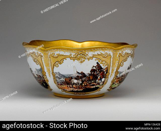 Bowl. Factory: Meissen Manufactory (German, 1710-present); Date: ca. 1740; Culture: German, Meissen; Medium: Hard-paste porcelain; Dimensions: Overall