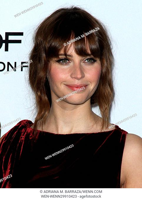 ELLE Women in Hollywood Awards at the Four Seasons Hotel Beverly Hills Featuring: Felicity Jones Where: Los Angeles, California