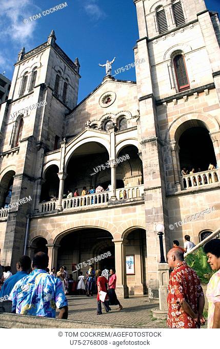 Service at Catholic cathedral, Suva, Viti Levu, Fiji