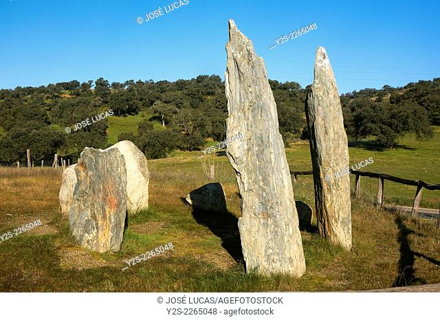 Cromlech La Pasada del Abad -betwen 3000 and 2500 BC, Megalithic monument, Rosal de la Frontera, Huelva province, Region of Andalusia, Spain, Europe
