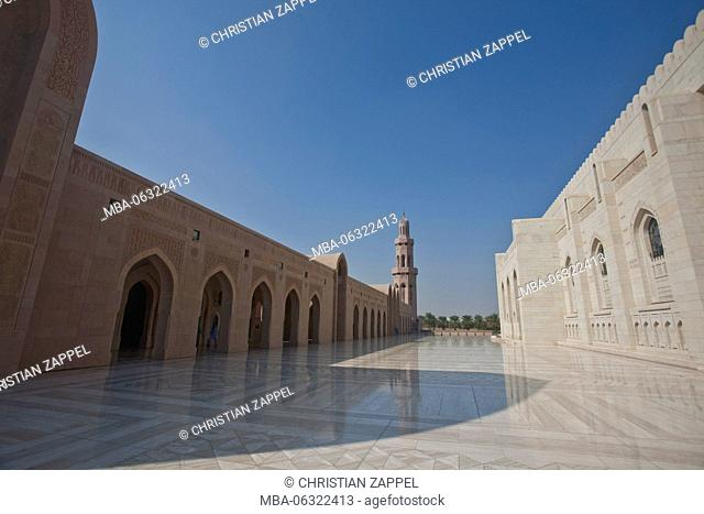 Sultan Qaboos Mosque, classical architecture of Medina, Muscat, Orient, Oman, Asia