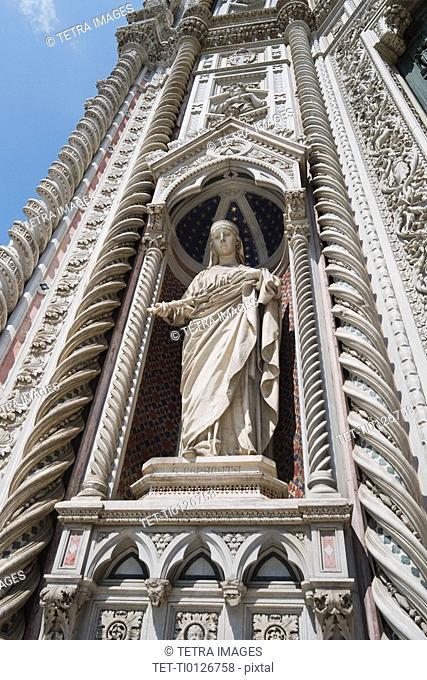 Statue on the Duomo Santa Maria Del Fiore, Florence, Italy