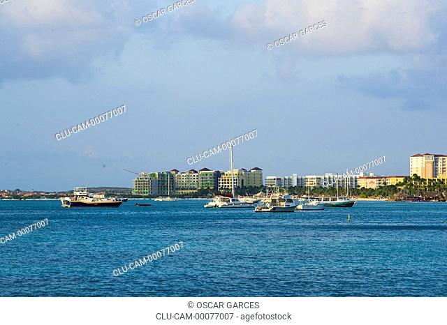 City of Oranjestad, Aruba, Lesser Antilles, Central America