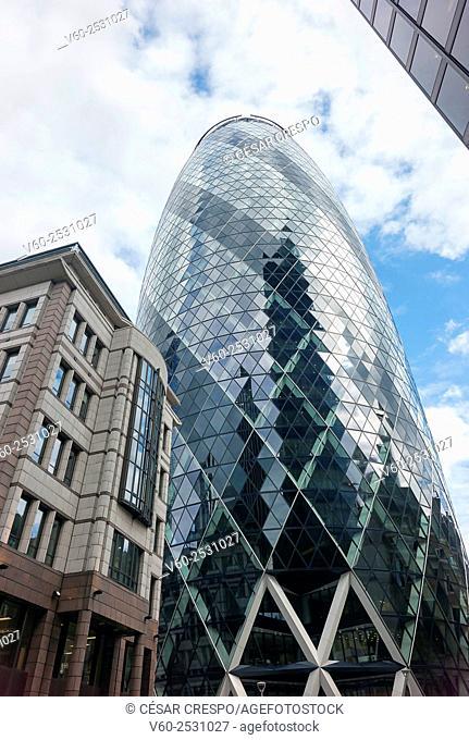 30 St Mary Axe, The City, London, England, UK