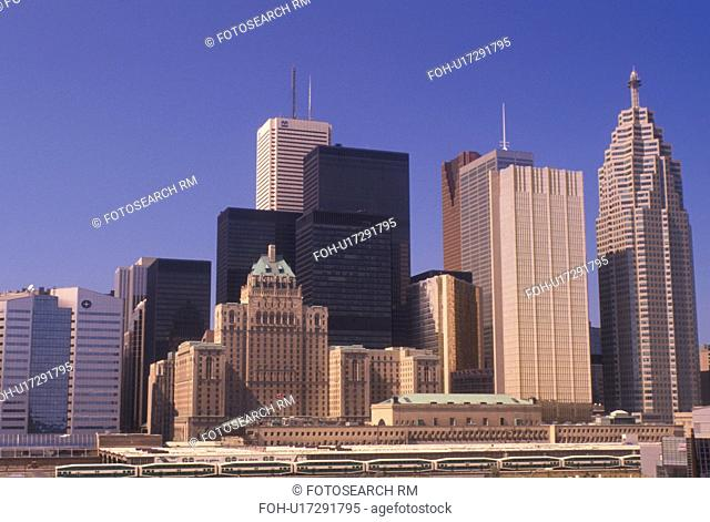 Toronto, Canada, Ontario, Skyline of downtown Toronto
