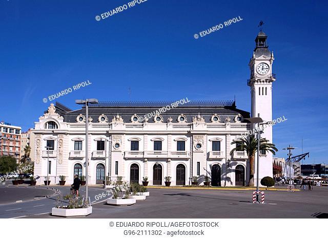 Building of the clock, Valencia port