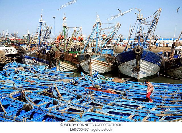 Essaouira fishing harbour. Morocco
