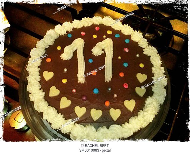 Cake on eleven birthday
