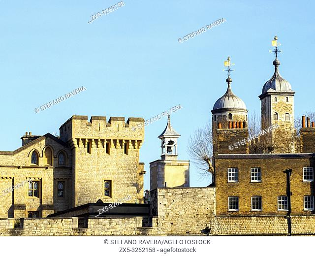 Detail of the Tower of London - England