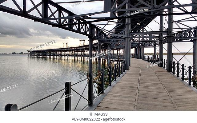 Riotinto pier in the city of Huelva, Andalusia, Spain