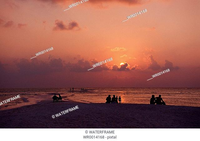Sunset at Maldives, Indian Ocean, Maldives Island