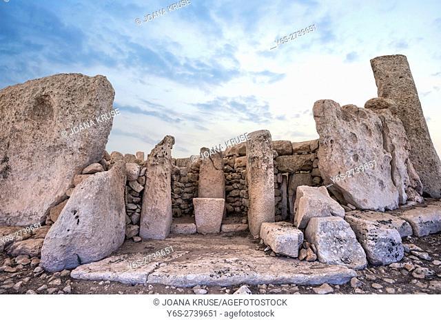 Hagar Qim Temples, Archaeological Park, Qrendi. Malta