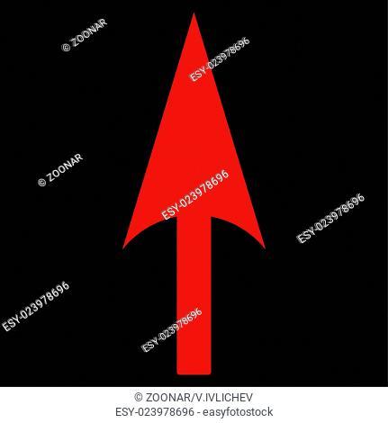Arrow Axis Y flat red color icon