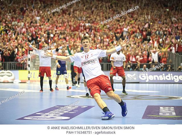jubilation Lasse SVAN (DEN) Final, Norway (NOR) - Denmark (DEN) 22:31, 27.01.2019 in Herning / Denmark Handball World Cup 2019, from 10.01. - 27.01