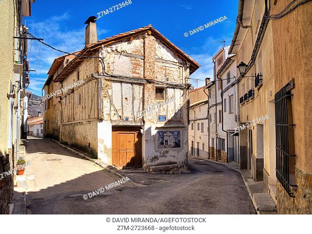 Traditional architecture, Cañete, Cuenca province, Castile la Mancha, Spain. Historic and Artistic Heritage