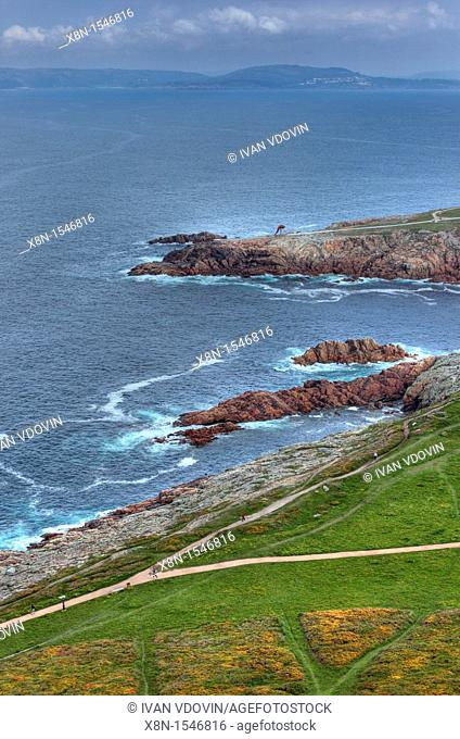 Seascape from Tower of Hercules, A Coruna, Galicia, Spain