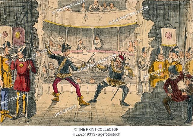 The Battle of Bosworth Field, a scene in the Great Drama of History, 1850. Artist: John Leech