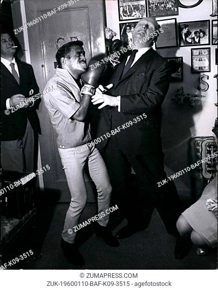 Feb. 29, 2012 - Golden Boy Sammy Davis Jr. Knockouts Mr. Goldfinger Gert Frobe; They have met years back in Berlin and now Gert Frobe payed a visit in Sammy's...