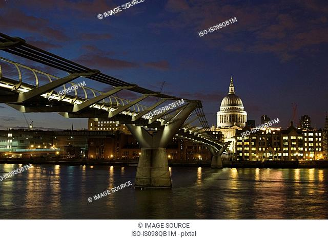 Millennium bridge and st pauls cathedral london