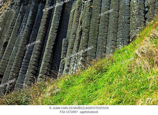Organ Pipes Basalt Columns  The Giant's Causeway  World Heritage Site  Causeway Coastal Route  Antrim County, Northern Ireland, Europe