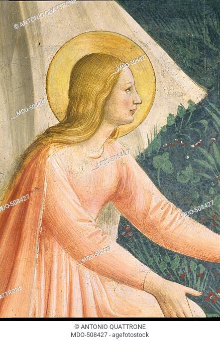 Noli me tangere, by Guido di Pietro (Piero) known as Beato Angelico, 1438 - 1446 about, 15th Century, fresco, cm 180 x 146
