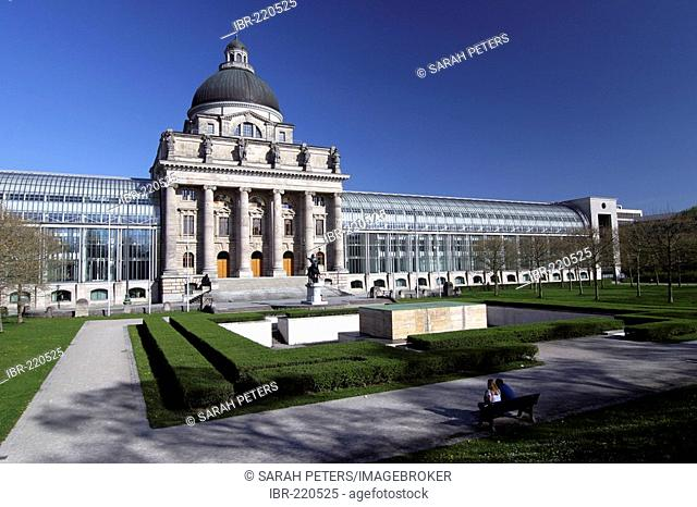 Bavarian State Chancellery, Hofgarten, Munich, Upper Bavaria, Bavaria, Germany