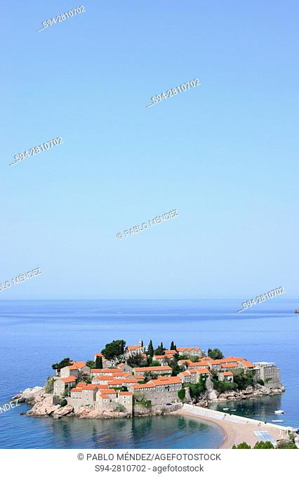 Peninsula of Sveti Stefan, in the coast of Montenegro