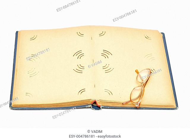 Old photography album paper texture background