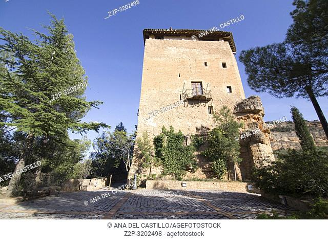 Old tower Somaen village Soria Castile Spain
