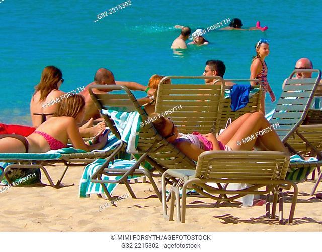 beach scene, Hawai'i