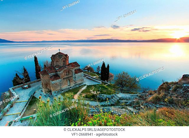 Sveti (Saint) Jovan Kaneo Church on Lake Ohrid, Macedonia
