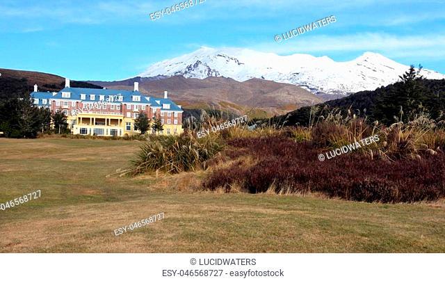 Panormam view of Mount Ruapehu