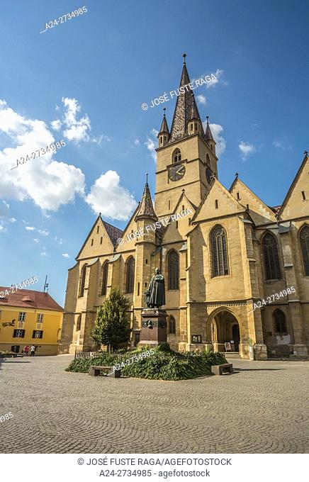 Romania, Sibiu City, Evangelical Cathedral of Sebiu, Teutsch Monument