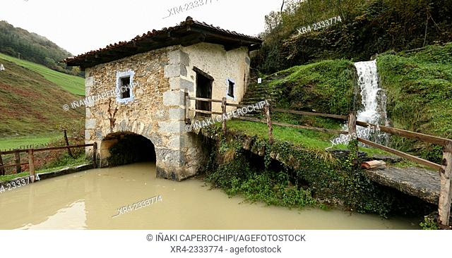Mills of Plazaola, Lastur Quarter, Deba, Gipuzkoa, Basque Country, Spain