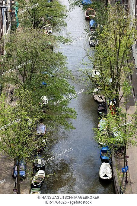 View from the Zuiderkerk on Groenburgwal, Amsterdam, Holland, Netherlands, Europe