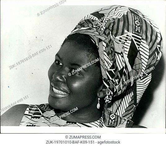 Oct. 10, 1970 - Denmark's New Ambassador from Ghana: Denmark has a new Ambassador from Ghana and a very pretty. She is Bertha Amonoo Neizer