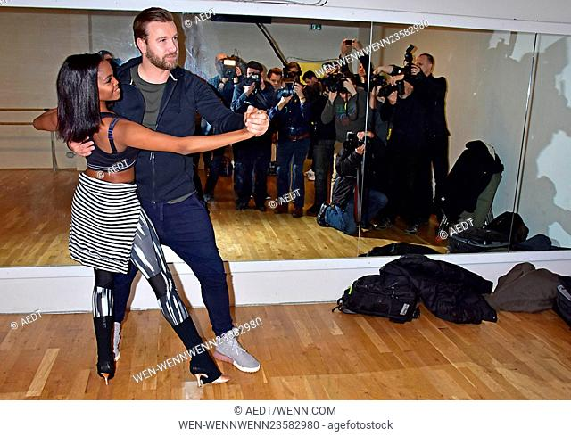 Otlile Mabuse and Niels Ruf practice for TV show 'Let's Dance' at Academia Jangada. Featuring: Otlile Mabuse, Oti Mabuse, Niels Ruf Where: Berlin