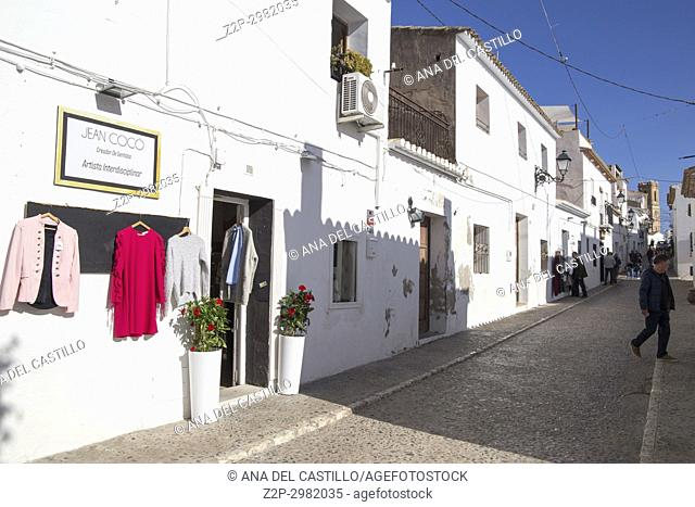 Altea white village in Alicante coast, Valencian Community, Spain