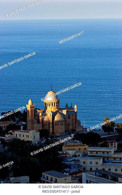 Algeria, Algier, view to Notre Dame d'Afrique