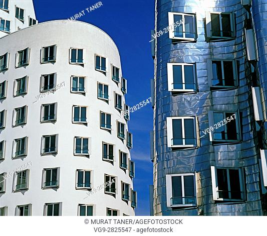 Gehry Building at Media Harbour. Düsseldorf, Germany