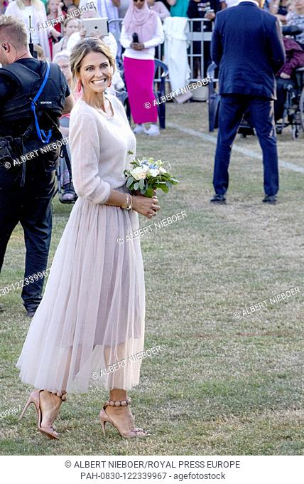 Princess Madeleine of Sweden at the Borgholm Sports Arena in Borgholm, on July 14, 2019, .to attend the celebration of Crown Princess Victoria her 42nd birthday...