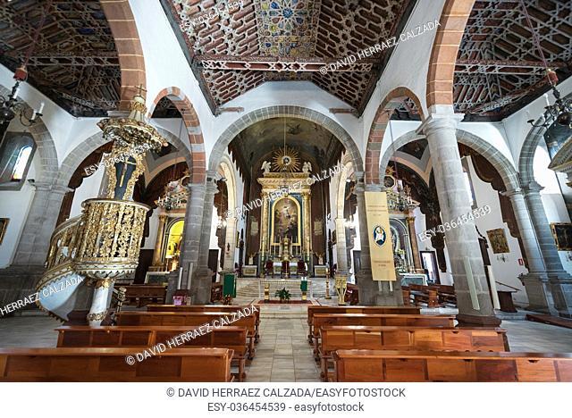 San Salvador church interior in La Palma, Canary islands, Spain